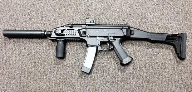Undercover police snatch high-powered Skorpion submachine gun in secret operation