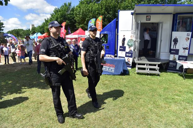 Armed police save heart attack man's life at Wales Airshow