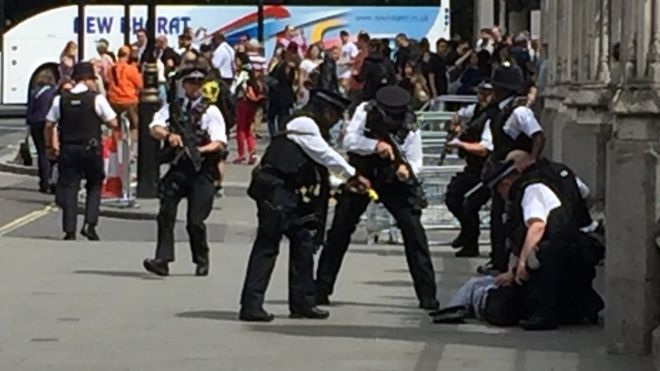 Man 'reaching for knife' tasered by police outside Parliament