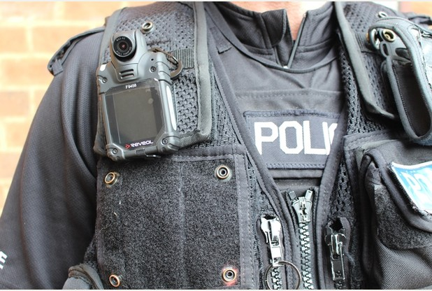 Armed Bedfordshire police officers equipped with body worn video cameras to increase transparency