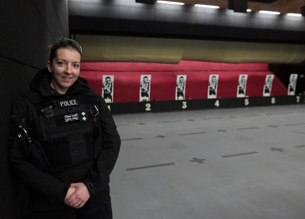 Armed police - cop's eye view of gun training exercise is a real eye-opener