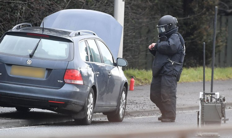 Police officer's car set alight after 'booby trap bomb explodes' in Northern Ireland