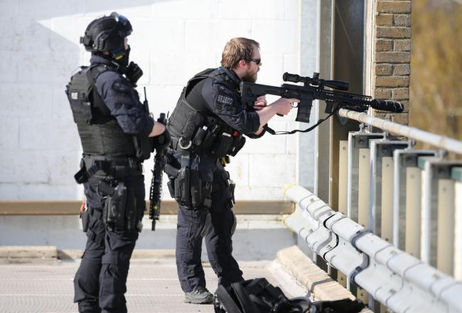 Crawley College: Police thank public for tackling gun suspect
